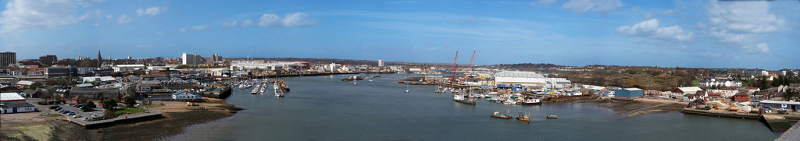 Itchen Bridge Panorama