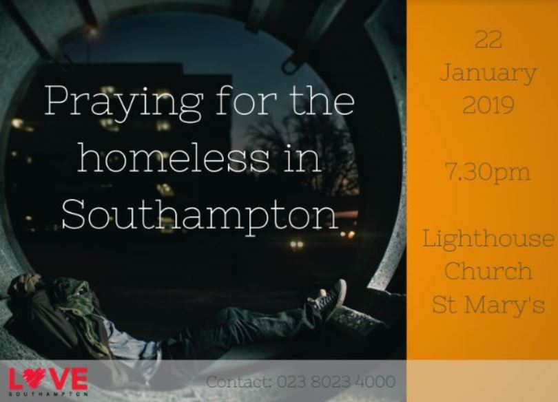 Homelessness Prayer Jan 2019